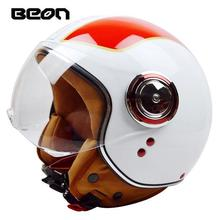 Italy style beon motorcycle helmet top quality jet style casco ECE approved BEON B200(China)