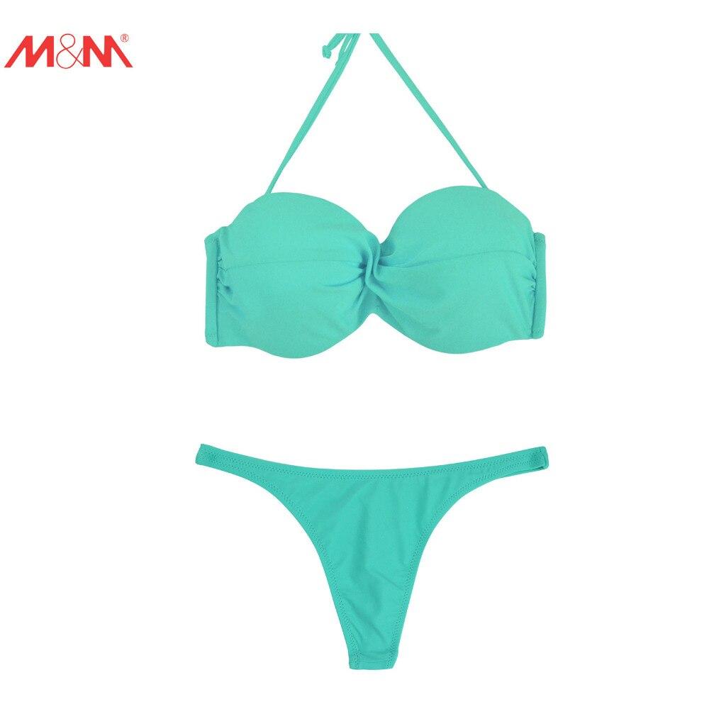 M&amp;M Sexy Push Up Bikini Set Brazilian Halter Swimwear Leopard Print Vintage Tongs Bottom Bathing Suit Low Waist Sport Swimsuit<br><br>Aliexpress