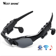 WEST BIKING Wireless Bluetooth Glasses Driving Riding Sun Glasses Headset Earphone For Cell Phone Cycling Glasses Bluetooth(China)
