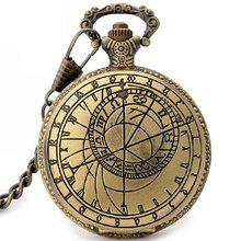 New Retro Antique Compass Design Pocket Wacth Chain for Man Women Gift P208C