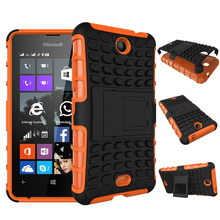 Hot Touch Armor 2 in 1 Design Cover Hard Case For Nokia Microsoft Lumia 430 Heavy Duty Defender Cases With Stand Function