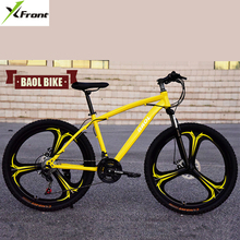 New X-Front brand 26 inch 21/24/27 speed carbon steel mountain bike disc brake bicicleta downhill MTB bicycle(China)