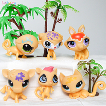 Xmas gifts Letsjoy cat monkey foxes cow cute toys pink pet shop toys action figure pony toys littlest animal lpsingly(China)