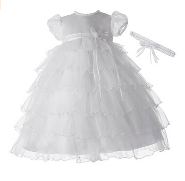BABY WOW White Newborn Baby Girl Christening Gowns Dress Lace Baptism Baby Girl Dress First Communion Dresses for Girls  90148<br><br>Aliexpress