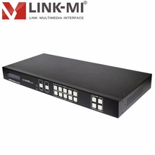 LINK-MI HDMI 4x4 Matrix Switcher 4K2K /3D Professional HDMI 2.0 HDCP2.2 MATRIX 4x4 18G 4:4:4 IR Remote Control, RS-232, TCP/IP