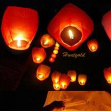 Pure Color Chinese Paper Sky Flying Lanter KongMing Lantern Lucky Wishing Glim