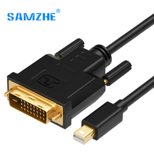 SAMZHE Mini DP to DVI Cable,24+1 Mini DP Displayport V1.2 to DVI Converter Cable Adpater Thunderbolt Compatible for MacBook/Pro(China)