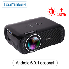 Touyinger Everycom X7 Mini LED Projector 1800 Lumen TV Home Theater Full HD 1080p 4K ( Android 6.0 ver.)Video Hdmi LCD 3D Beamer(China)