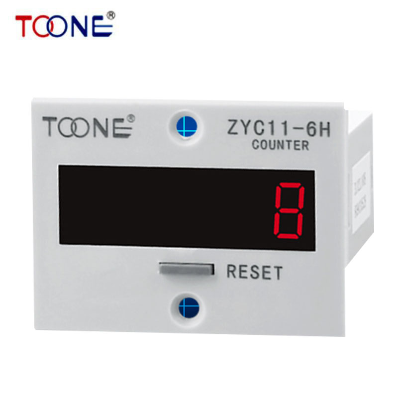 ZYC11-6H 6-digital LED Digital Display Counter Wide Counting Range 10 Years Power-off Memory(China (Mainland))