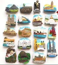 (6 pieces / lot)World countries travel resin refrigerator stickers