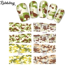 2017 New Arrival Camouflage Series Water Transfer Nail Ssticker Fingernail Decorations Water Slide Nail Decals For Nail Art