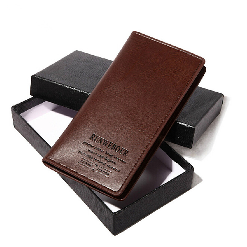 2014 Brand Designer Fashion Mens Wallet Famous Split Leather Long Purse Cowhide Coins Wallets For Men Free Shipping<br><br>Aliexpress