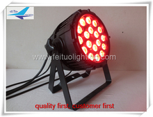 6pieces LED outdoor stage par can uplight 18*15W RGBWA 5in1 led DJ wedding events par64 light