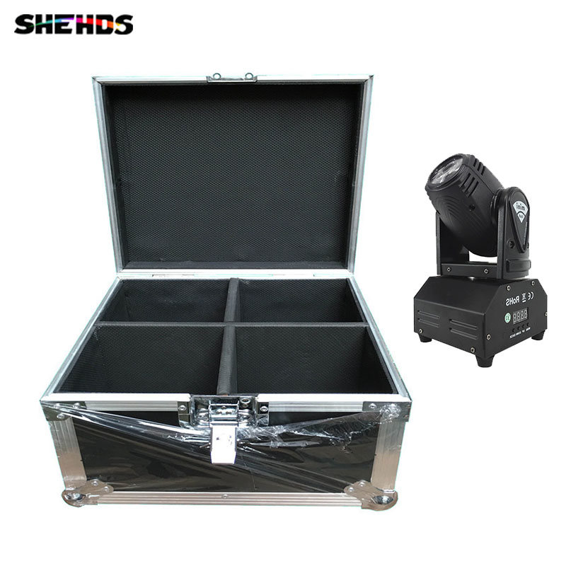 FlightCase With 2/4/6/8pcs Mini LED 10W RGBW Beam Moving Head Light High Power Professional for Party KTV Disco Stage DJ  <br>