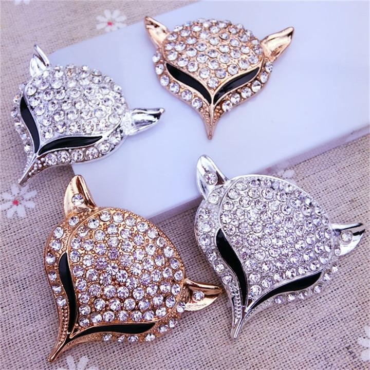 10  Fox Headed Rhinestone Jewelry Findings Alloy Handmade Craft For Bracelet Necklace Jewelry Making Decor Diy Accessories