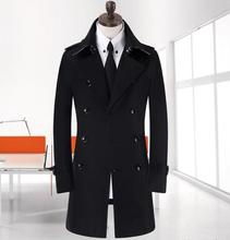 Crazy promotion ! 7XL 8XL 9XL Trench coat for men plus size spring long coat men new black Gentleman double-breasted jacket
