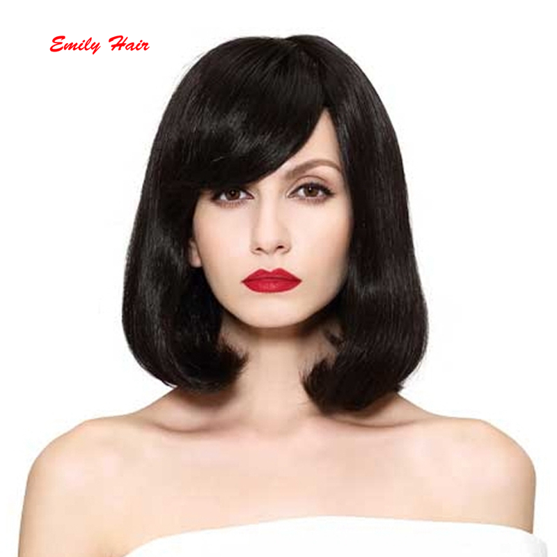 200 Density Natural Hair Part Line Lace Front Wig