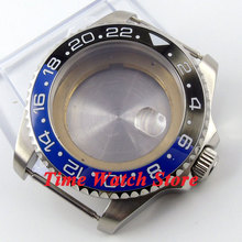 43mm Sapphire glass black&red bezel stainless steel Watch Case fit ETA 2824 2836 movement 50