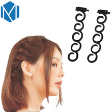 M MISM 1 Pack=2 pcs Magic Twist Hair Braid Hairstyle DIY Tools Women Beauty Hair Twist Styling Accessories(China)