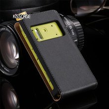 KISSCASE N8 Luxury Real Genuine Leather Case For Nokia N 8 Retro Magnetic Chip Vertical Flip Protective Sleeve Cover Accessories(China)