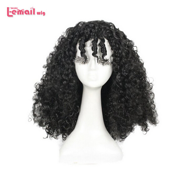 Free Shipping 50cm Tangled Rapunzel Mother Black Short Afro Kinky Curly Wigs Cosplay<br><br>Aliexpress