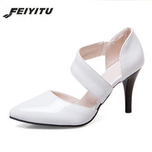 Feiyitu mujeres bombas zapatos tacones altos punta dedo del pie fino tacones  altos partido zapatos de a638f6c3a4a4