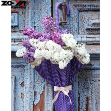 ZOOYA Full Square drill 5D DIY Diamond embroidery Umbrellas and flowers Diamond Painting Cross Stitch Rhinestone Mosaic decor(China)