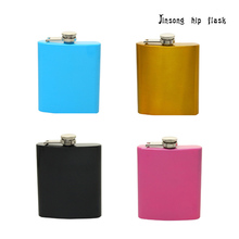 1PC  227ML (8OZ ) Factory price 304 black stainless steel hip flask portable outdoor 8OZ stainless steel hip flask