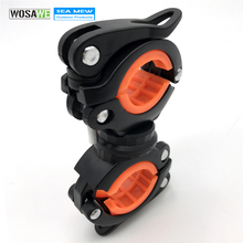 WOSAWE 360 Degree Rotating Bike Light Holder Clamp Torch Clip Bicycle Light Clip Mountain Bike Lamp Pump Handlebar Holder(China)