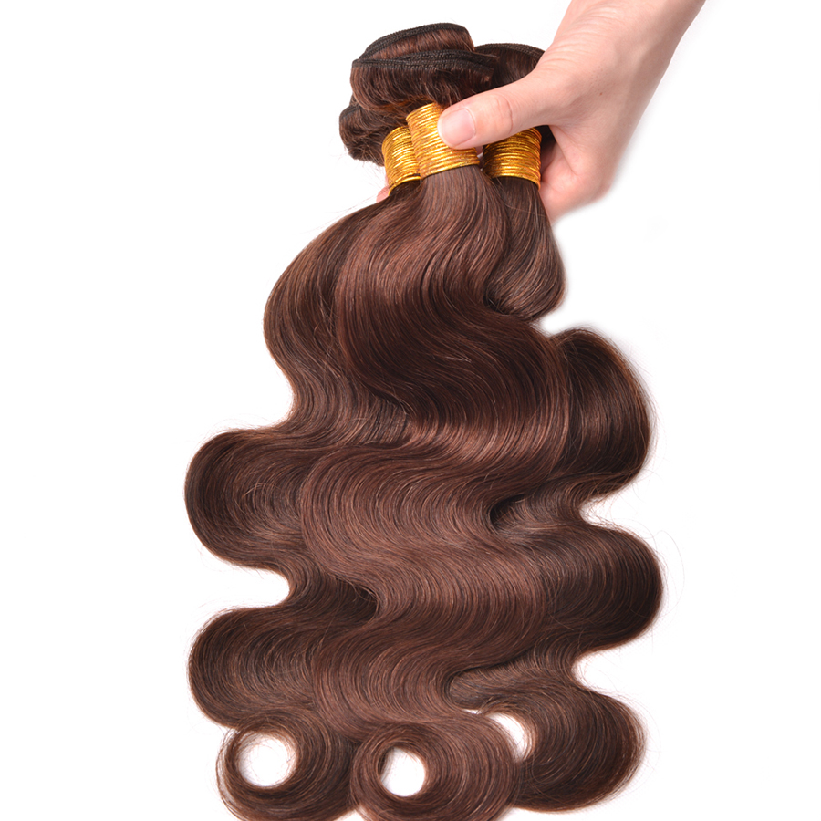 Hair Extensions & Wigs Dedicated Feel Me Hair Product Cambodian Hair Body Wave Bundles With Closure Free Part Non-remy Human Hair Bundles With Lace Closure 3/4 Bundles With Closure