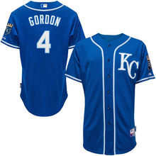 MLB Men's Kansas City Royals Alex Gordon Baseball Royal Alternate 6300 Player Authentic Jersey(China)