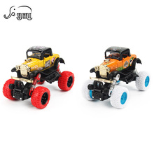New Alloy Metal Diecast Car Baby Toys Kids 1: 34 Scale Pull Back Beat-up Car Model Classical Vehicle Toy for Children Boy Gift