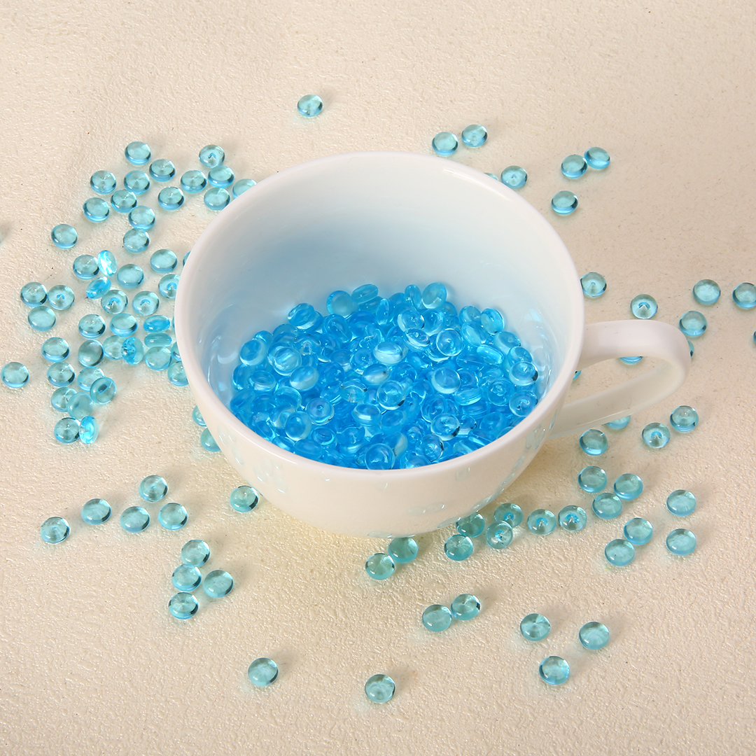 50g 7mm Slime Beads Blue Plastic Fishbowl Bead Acrylic Vase Fish Bowl Fillers Children DIY Craft Accessories Novelty Toys