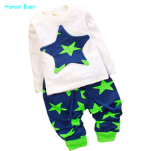 Humor Bear Baby boy's/girl's Sports Set 2pcs sport clothing set baby wear Kids Suit free shipping(China)