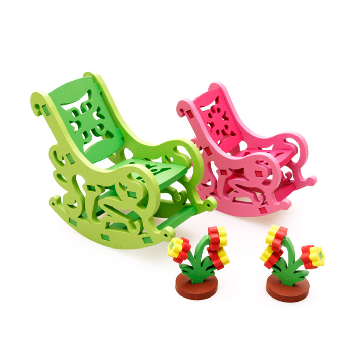 Baby Learning Educational Wooden Toys Blocks Assemblage Play House Rocking Chair mwz Enlightenment Kids Gifts 4204<br><br>Aliexpress