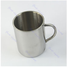 450ml Stainless Steel Coffee Mug Tumbler Camping Mug Double-deck Bilayer Cups New XQ Drop shipping(China)
