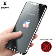 Buy Baseus 0.25mm Matte Screen Protector iPhone X Tempered Glass Ultra Thin Anti Fingerprint Protective Glass iPhone X Film for $4.99 in AliExpress store