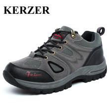KERZER Men's Hiking Shoes Outdoor Sports Boots Big Size Mountain Climbing Boots Spring/Autumn Outdoor Trekking Sneakers Men