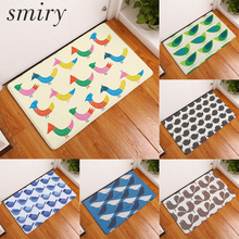 Smiry non-slip commercial stair floor mats colorful cute odd owl bird pattern carpets large water absorption kitchen floor rugs