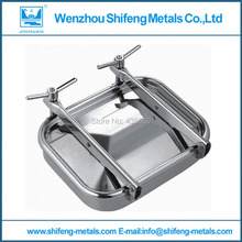 535mmx435mm Stainless steel rectangular side manway,square manhole cover(China)