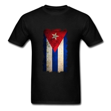 Ruin Vintage Grunge Cuba Flag T-shirts Men's Short Sleeve Cotton Male Graphic T Shirt Cheap Custom Patriotic Clothing Big Size