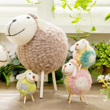 Creative Cartoon Sheep Figurine Children Room Small Ornament Fresh Home Bedroom TV Ark Adornment Furnishing Articles Home Decor