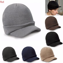 Hot Women Casquette Men Hats Casual Winter Cap Outdoor Snapback Peaked Hat Knitted Visors Cap Gorras Casquette Ski Hat LPQ001378