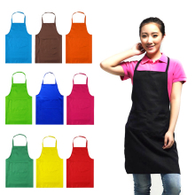 Lady Waist Apron Commercial Restaurant Home Bib Kitchen Apron With Pocket Coffee