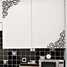 Promotion Large Wall Stickers Home Decor Adesivos De Parede Wall Stickers Kitchen Cabinet Furniture Decoration MeleStore(China)