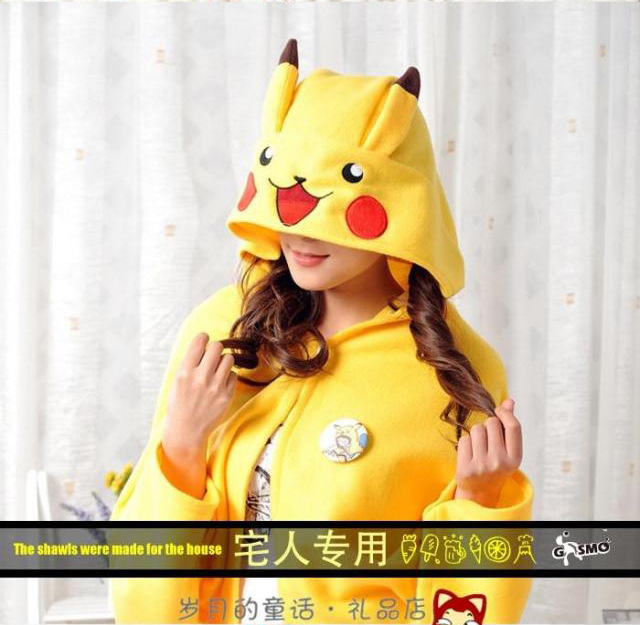 Lovely Cartoon Pikachu Thick shawl Japanese Anime Cute cosplay home Air conditioning blanket Japans most famous GH326<br><br>Aliexpress