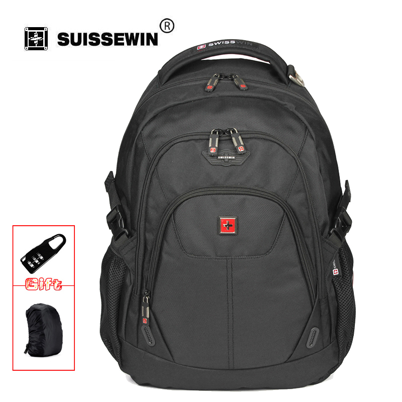 High Quality 15 Mens Laptop Backpack Multi-Pocket Waterproof Male Nylon Backpack Big Black Travel Backpack For  Business SW9039<br>