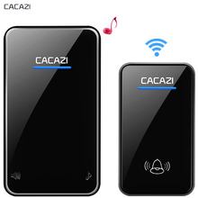 CACAZI New Wireless Doorbell Waterproof 300M Remote EU AU UK US Plug smart Door Bell Chime 1 2 button 1 2 3 receiver PK saful