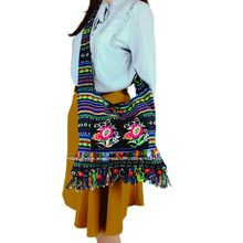 cb00e8167b7a Free shipping Vintage Hmong Tribal Ethnic Thai Indian Boho shoulder bag  message bag linen handmade embroidery Tapestry SYS-083B