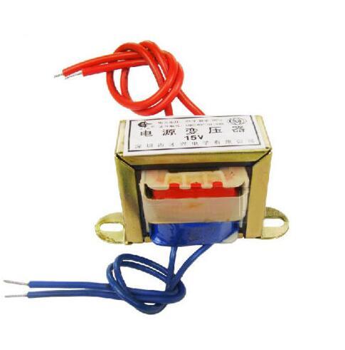 (1)50W EI Ferrite Core Input 220V 50Hz Vertical Mount Electric Power Transformer Output 15VAC<br>
